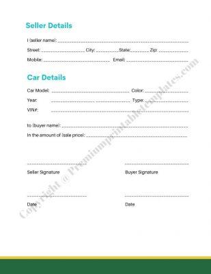 Sale Receipt Template PDF