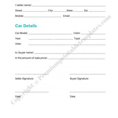 Sale Receipt Template PDF
