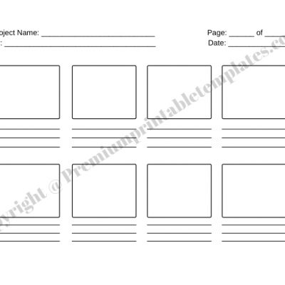 Storyboard Template for Film