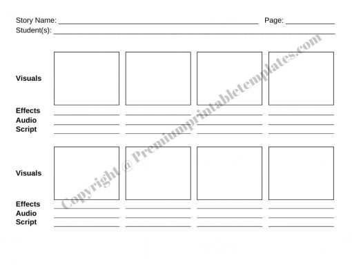 Storyboard Template for Movie