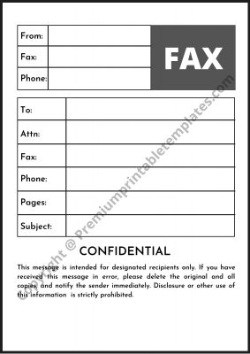 paramount confidential fax cover sheet