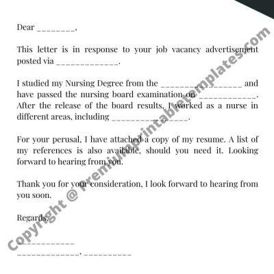 nursing resume cover letter