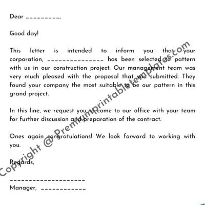 Simple Offer Letter Template from premiumprintabletemplates.com