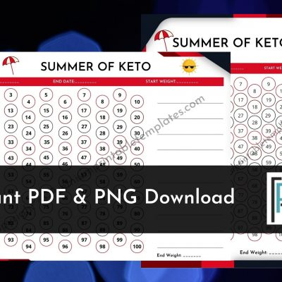 Summer 100 days of keto planner