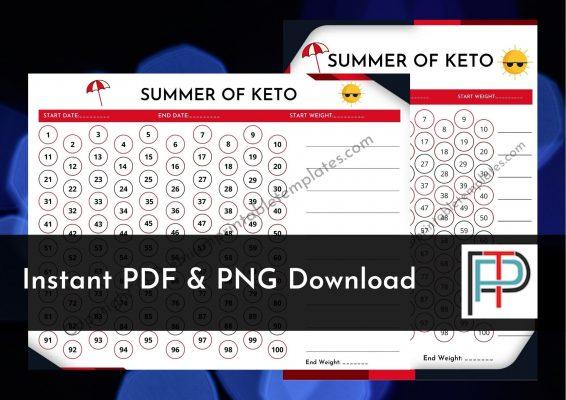 Summer 100 days of keto planner