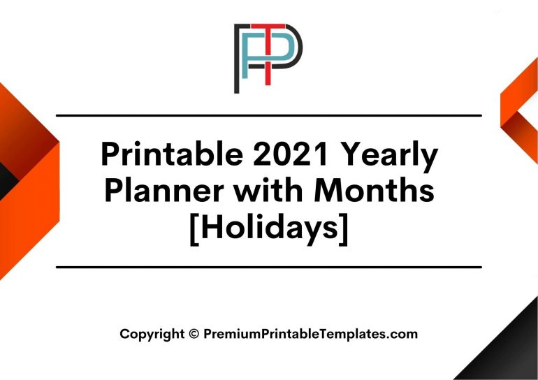 2021 Yearly Planner