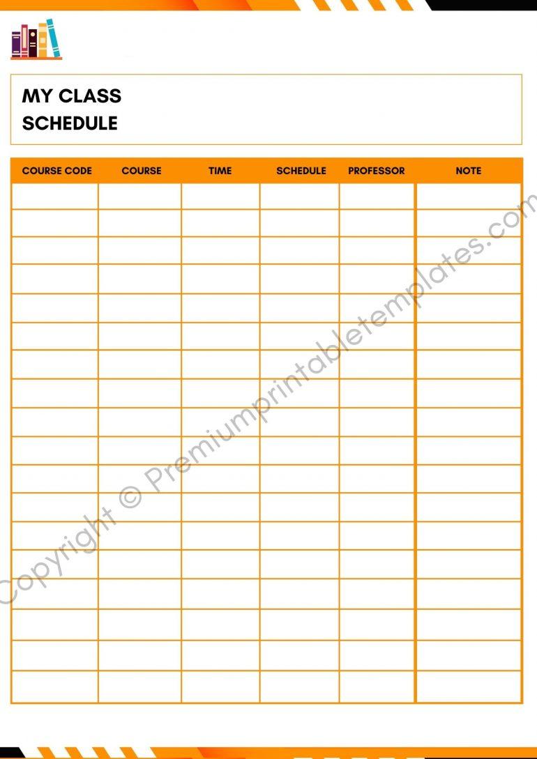 academic planner pdf