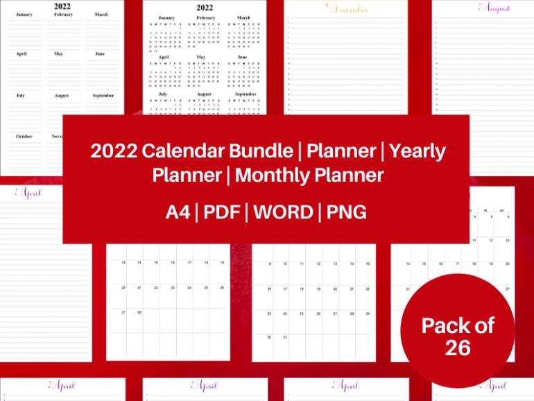 2022 Calendar Bundle