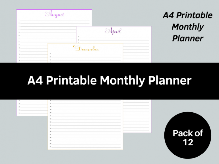 2022 Monthly Planner