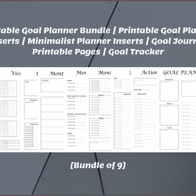 Printable Goal Planner Bundle