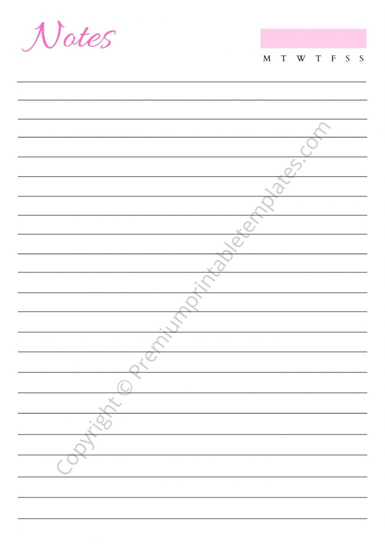Printable Notes Download