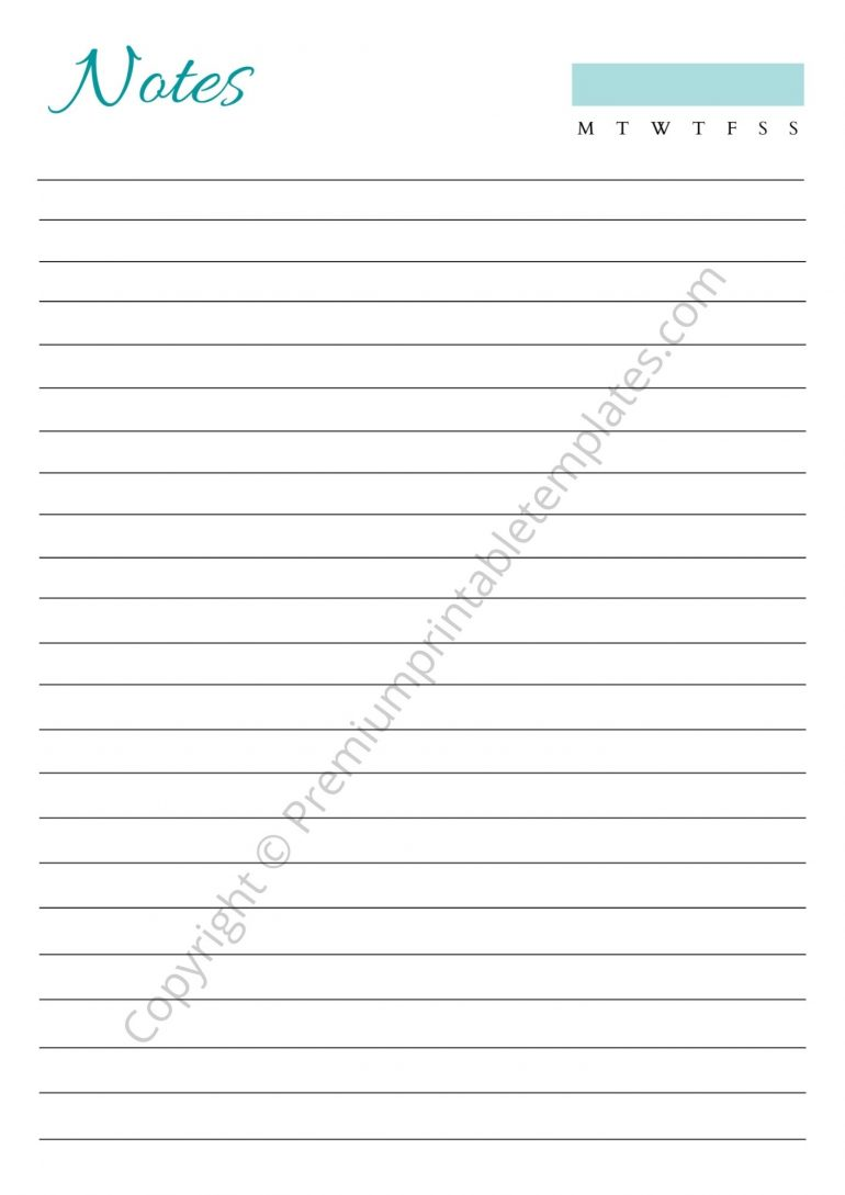 Printable Notes PDF