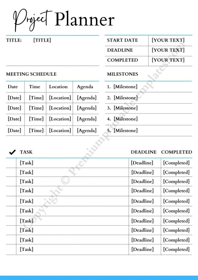 Project Planner pdf