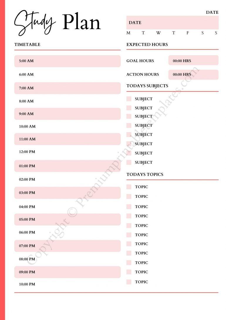 Study Planner pdf